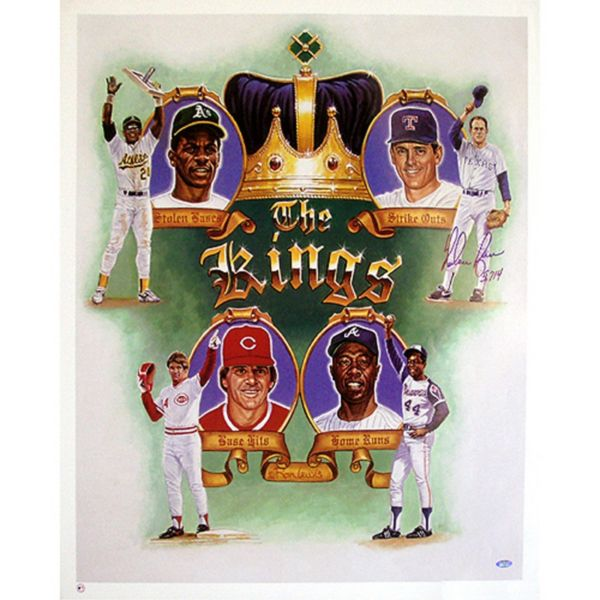 Steiner Sports Nolan Ryan Kings of Baseball Autographed Poster