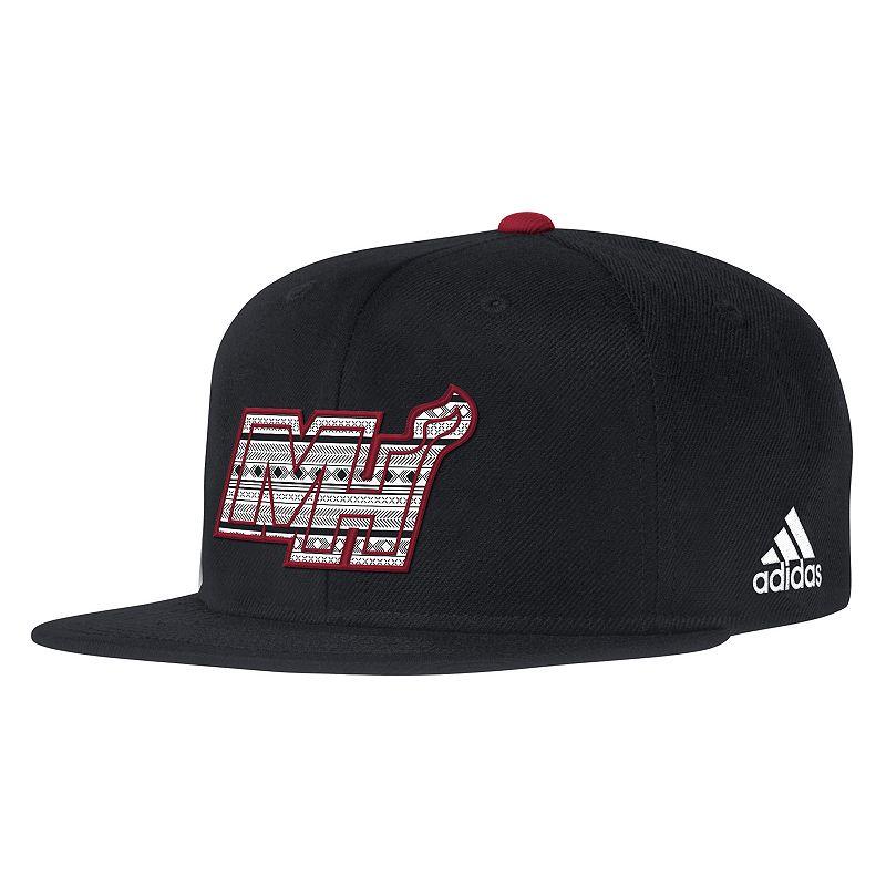 Adult adidas Miami Heat Snapback Cap