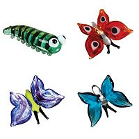 Looking Glass 4-pk. Caterpillar & Butterfly Mini Figurines