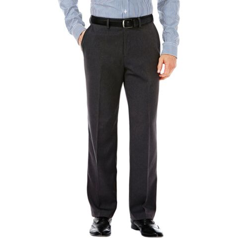 Men's Haggar® Tailored-Fit Pinstripe Gray Travel Performance Suit Pants