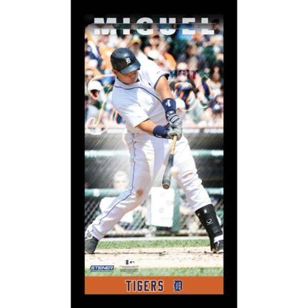 Steiner Sports Detroit Tigers Miguel Cabrera 10'' x 20'' Profile Wall Art
