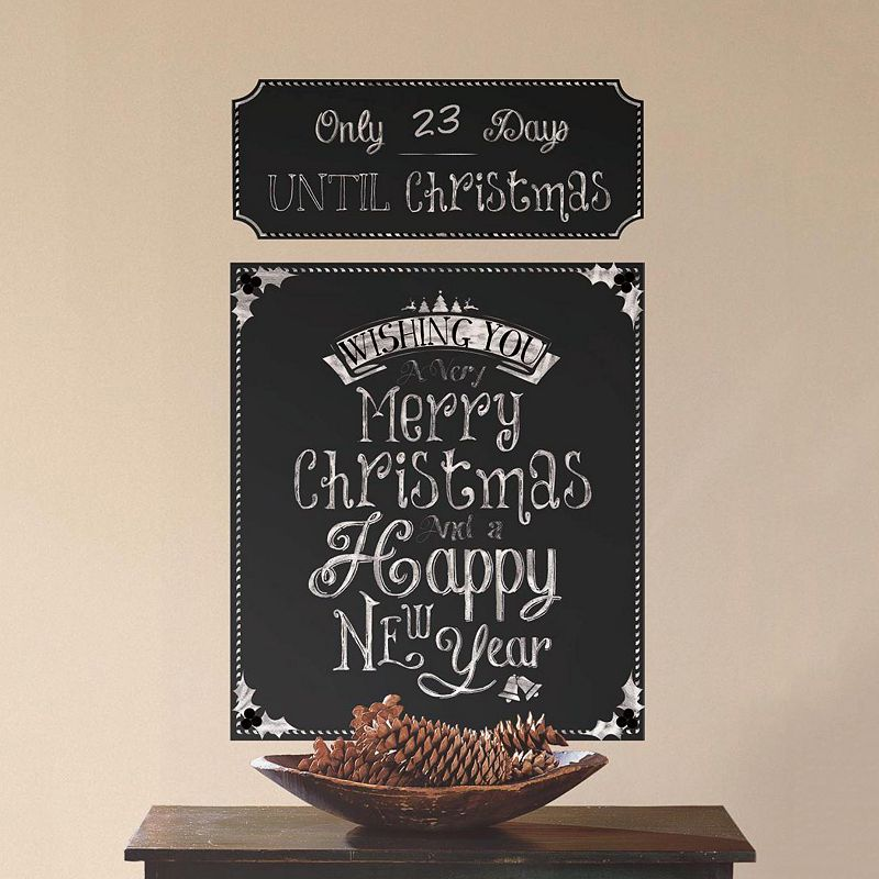 Christmas Countdown Chalkboard Wall Decals