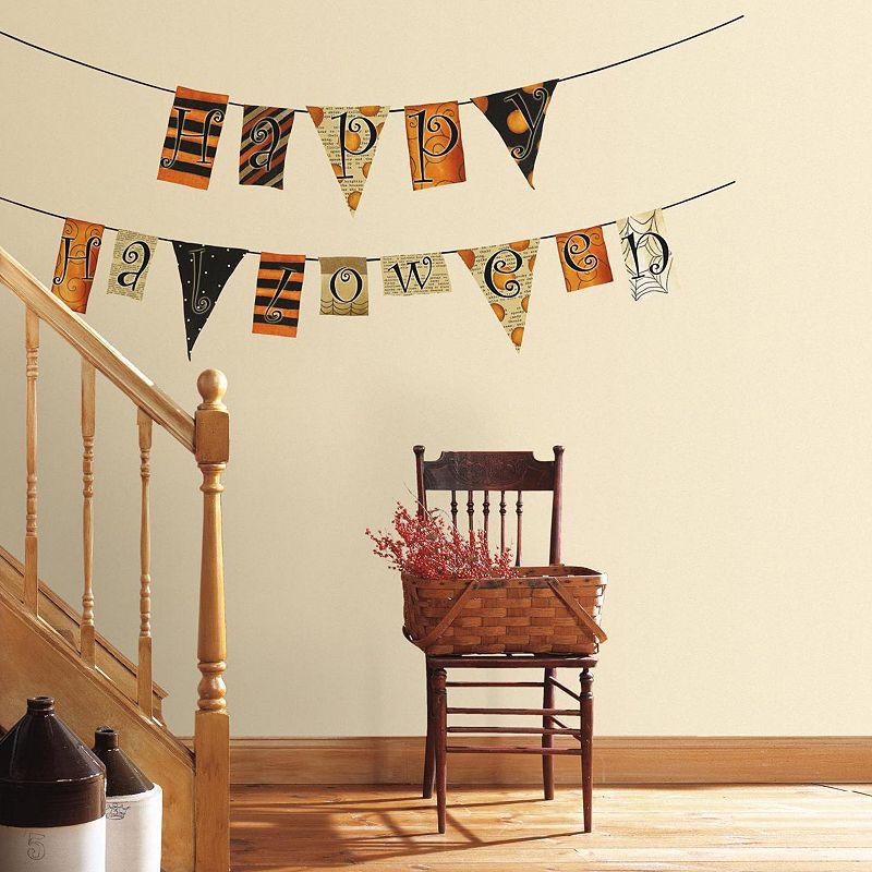Happy Halloween Garland Wall Decals
