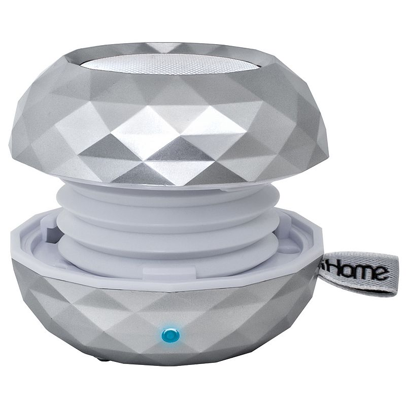 iHome Wireless Bluetooth LED Color Changing Mini Rechargeable Speaker