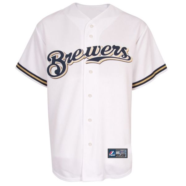 Big & Tall Majestic Milwaukee Brewers Replica MLB Jersey
