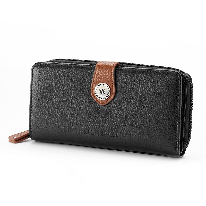 Stone and Co. Leather Large Zip Around Wallet
