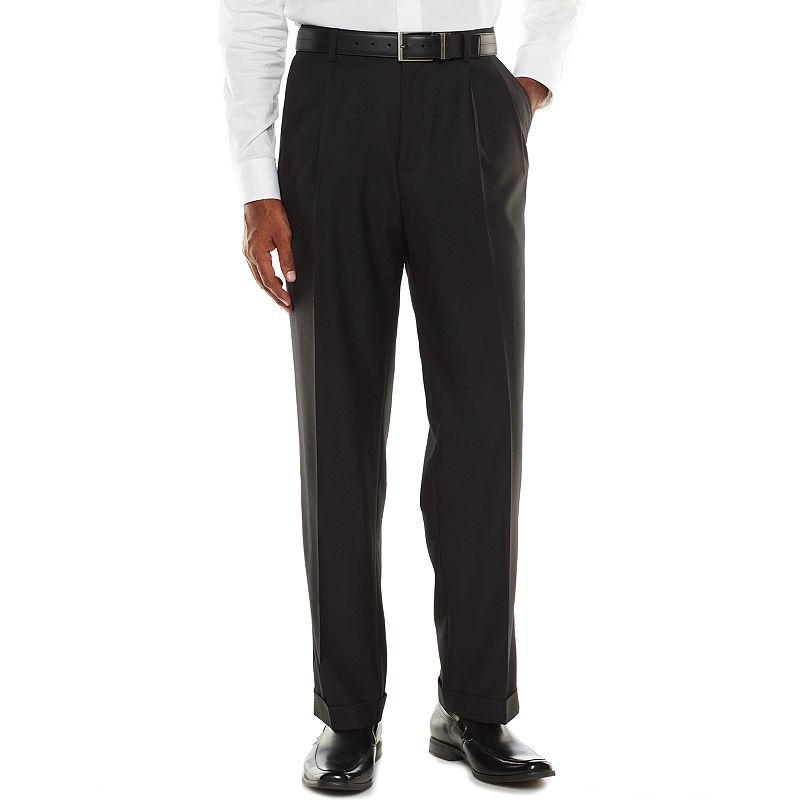 Big & Tall Croft & Barrow® Classic-Fit Black True Comfort Suit Pants