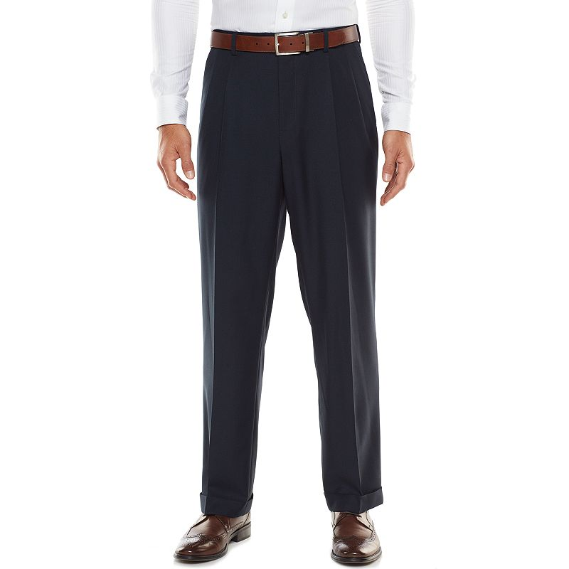 Big & Tall Croft & Barrow® Classic-Fit Navy True Comfort Suit Pants