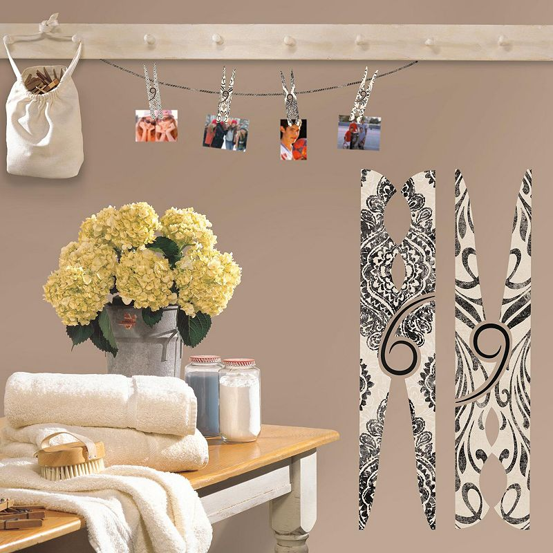 Clothes Pin Wall Decals