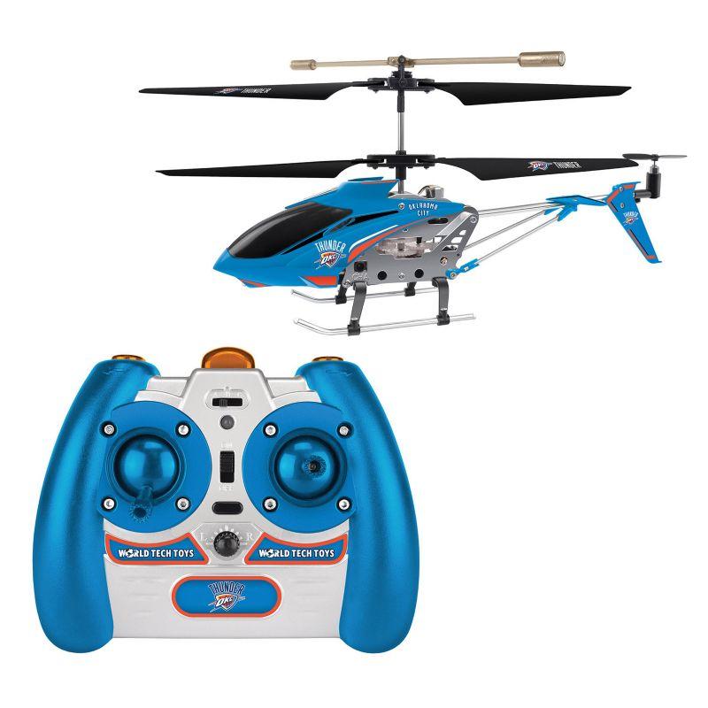 World Tech Toys Oklahoma City Thunder 3.5ch RC Helicopter, Blue thumbnail