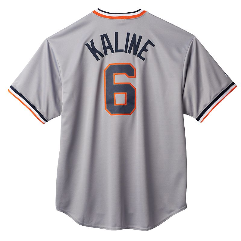Big & Tall Majestic Detroit Tigers Al Kaline Cooperstown Collection Replica MLB Jersey