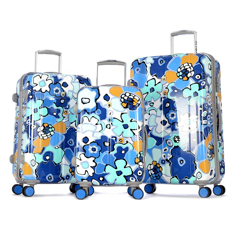 Olympia Blossom II 3-Piece Hardside Spinner Luggage Set