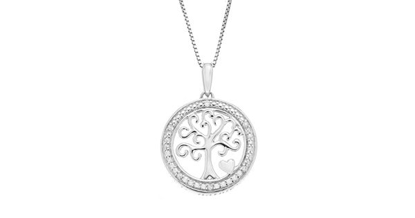 Timeless Sterling Silver Diamond Accent Sterling Silver