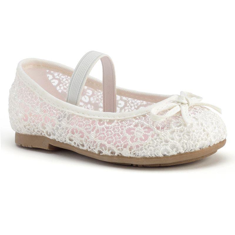 Jumping Beans® Toddler Girls' Crochet Ballet Flats