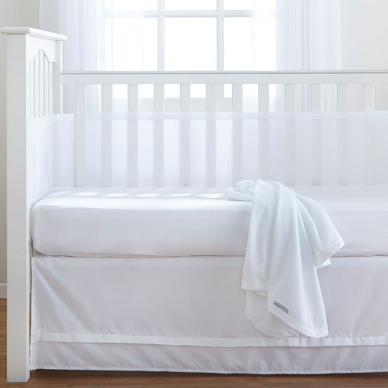 Breathable Baby 3-pc. Crib Bedding Set, White