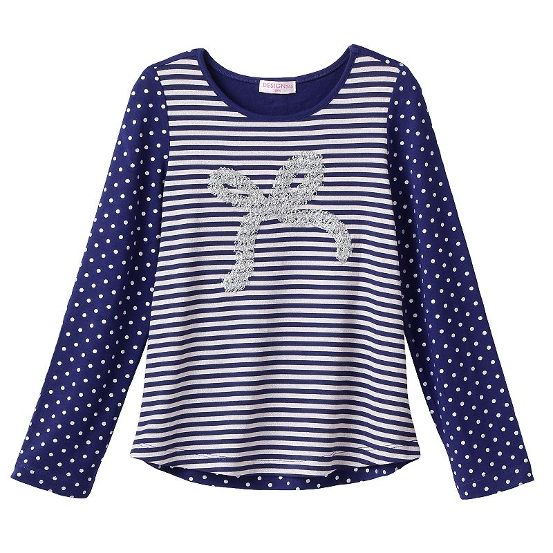 Design 365 Sequin Bow Tee - Toddler