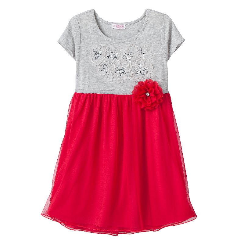 Design 365 Sequin Floral Dress - Toddler