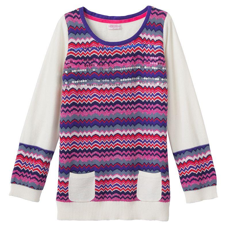 Design 365 Sequin Stripe Sweater - Toddler