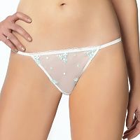 Jezebel Maggie Embroidered Floral Thong 50010 - Women's