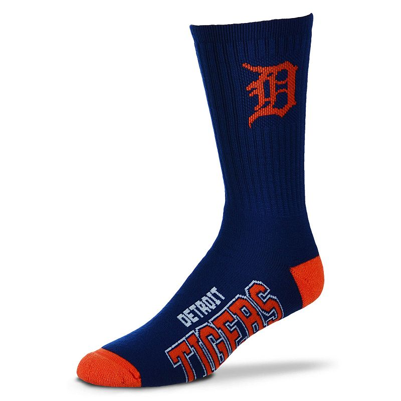 Adult For Bare Feet Detroit Tigers Team Color Crew Socks