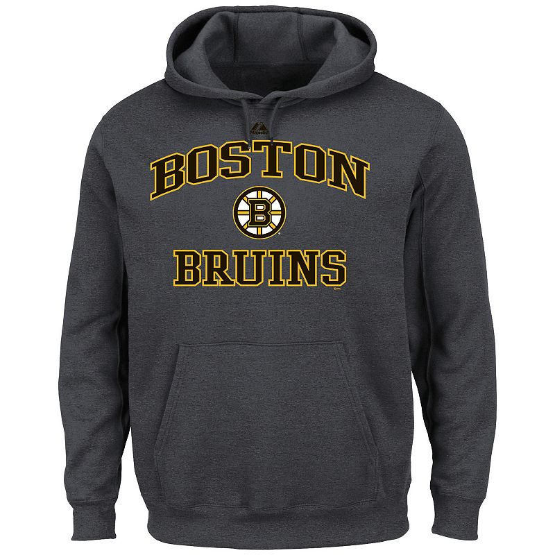 Men's Majestic Boston Bruins Heart and Soul II Fleece Hoodie