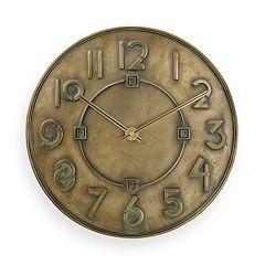 Bulova Frank Lloyd Wright Exhibition Typeface Wall Clock C3333 by