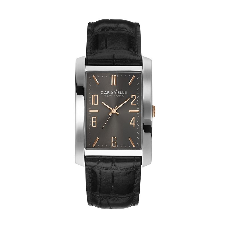 Caravelle New York by Bulova Men's Leather Watch - 45A134