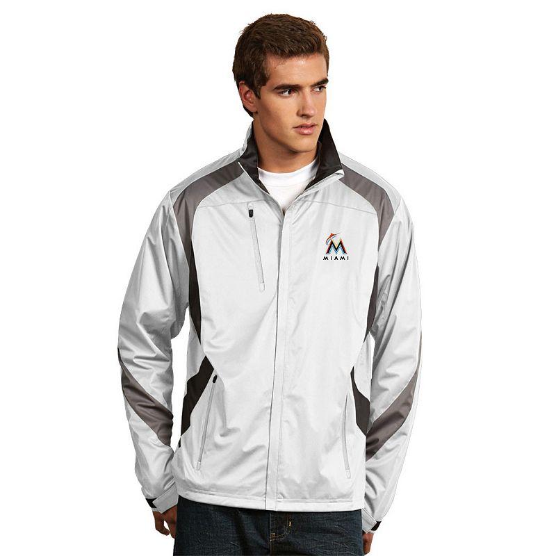 Men's Antigua Miami Marlins Tempest Desert Dry Xtra-Lite Performance Jacket