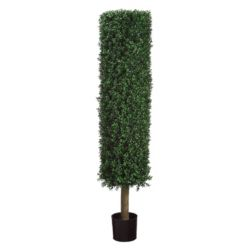 Click here to buy 4.5-ft. Artificial Boxwood Topiary Tree.