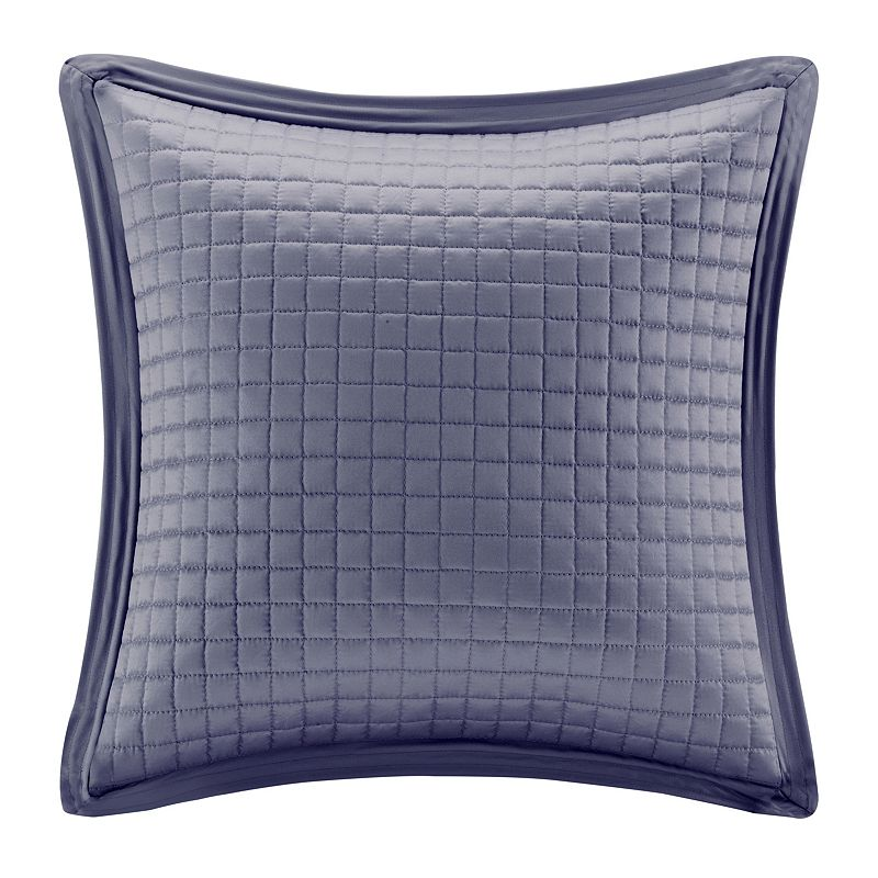 Madison Park 20'' x 20'' Quilted Charmeuse Throw Pillow