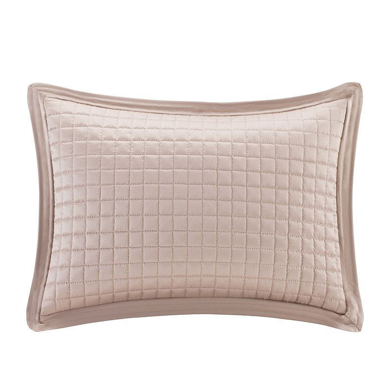 Madison Park 14'' x 20'' Quilted Charmeuse Throw Pillow