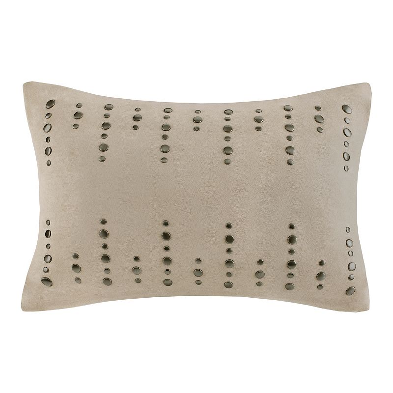 Madison Park 14'' x 20'' Studded Suede Throw Pillow