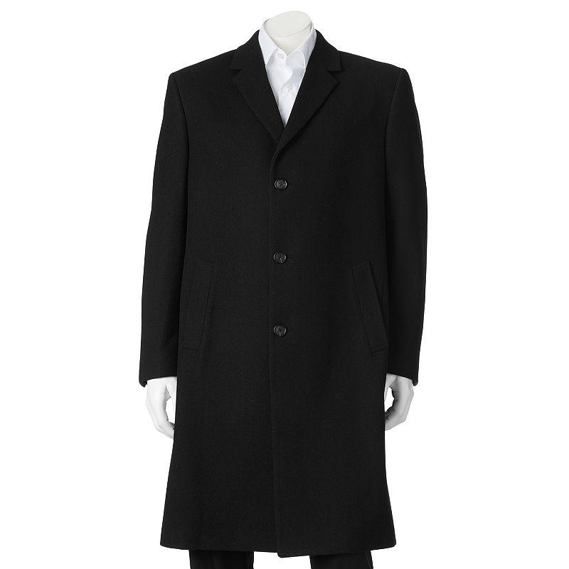 Men's Billy London 42-in. Wool-Blend Overcoat