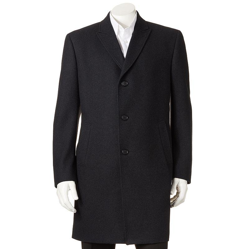 Men's Billy London 38-in. Wool-Blend Top Coat