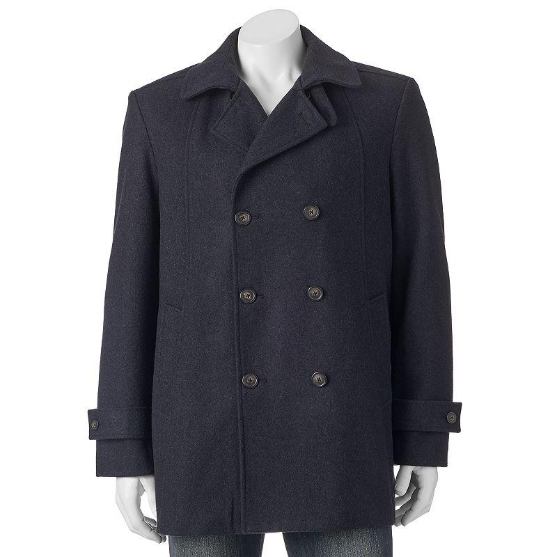 Men's Billy London Slim-Fit Double-Breasted 33-in. Wool-Blend Short Peacoat