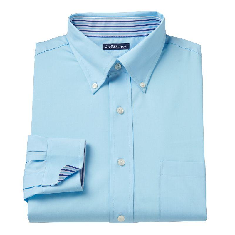 Big & Tall Croft & Barrow® Solid Easy-Care Dress Shirt