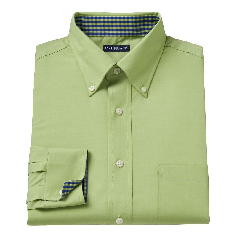 Big & Tall Croft & Barrow® Solid Easy-Care Dress Shirt