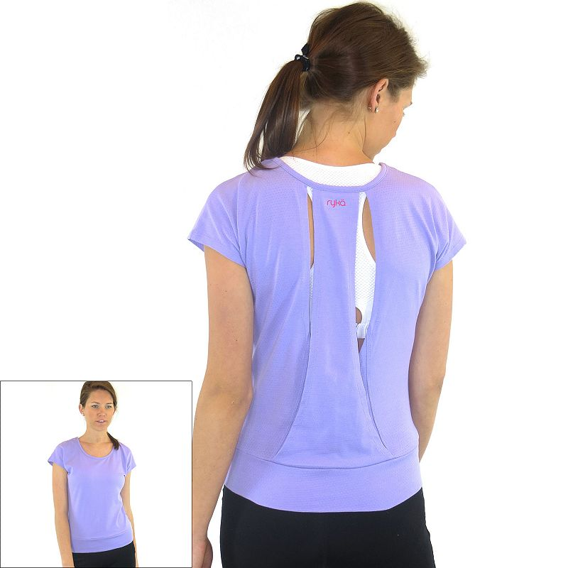 Plus Size Ryka Open-Back Yoga Tee