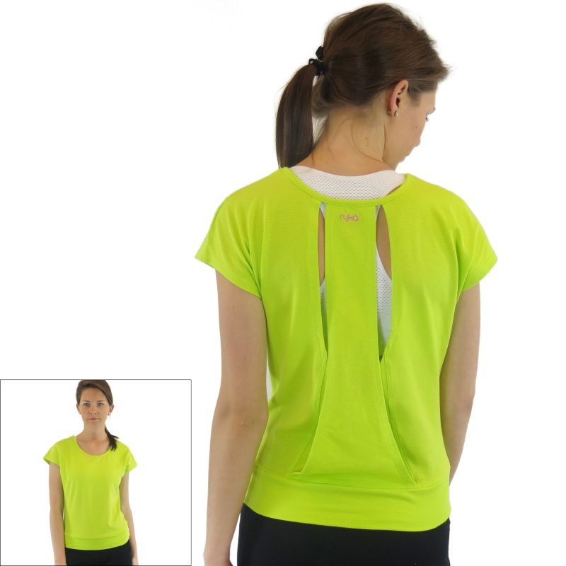 Plus Size Ryka Open-Back Yoga Tee, Women's, Size: 2XL, Green