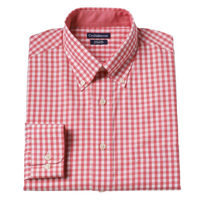 Big & Tall Croft & Barrow® Gingham Dress Shirt