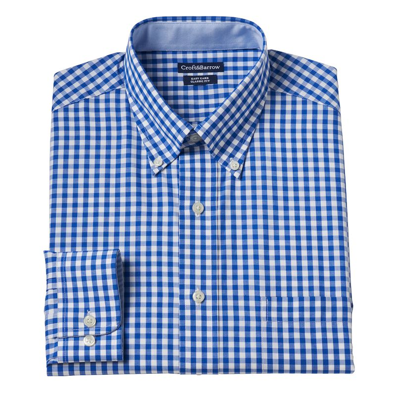 Big & Tall Croft & Barrow® Gingham Dress Shirt