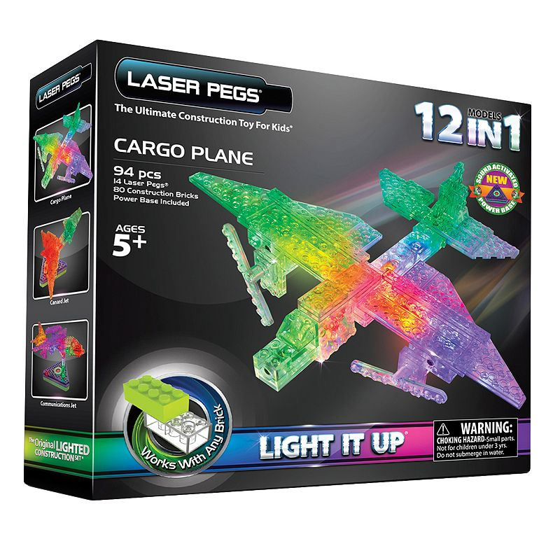 Laser Pegs Cargo Plane Construction Kit