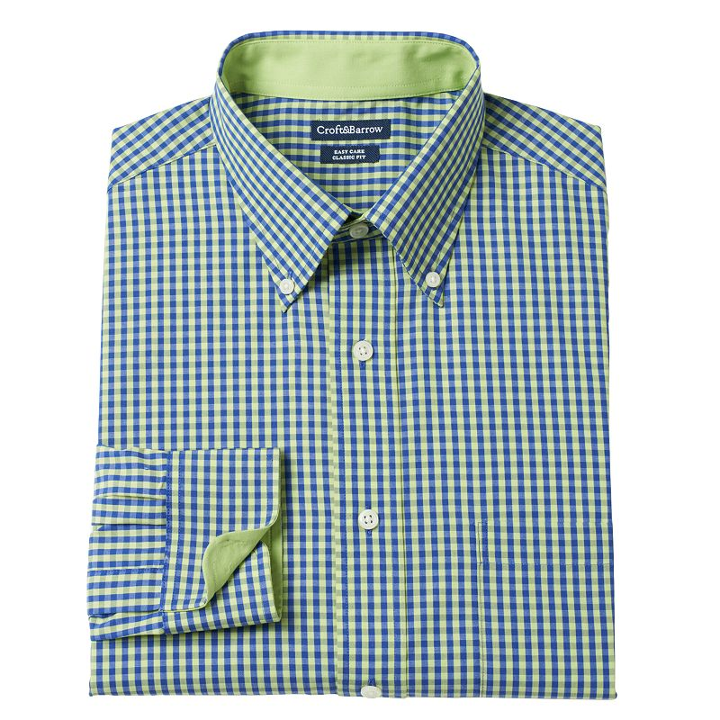 Big & Tall Croft & Barrow® Checked Dress Shirt