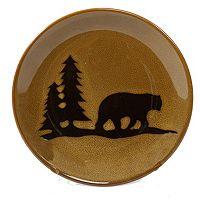 DEI Woodland River Bear Salad Plate