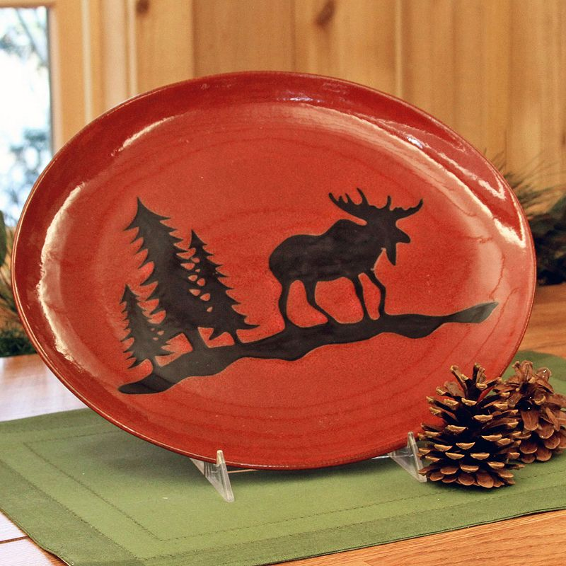 DEI Woodland River Moose Serving Plate