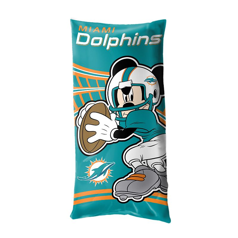 Miami Dolphins Mickey Mouse Body Pillow by Northwest