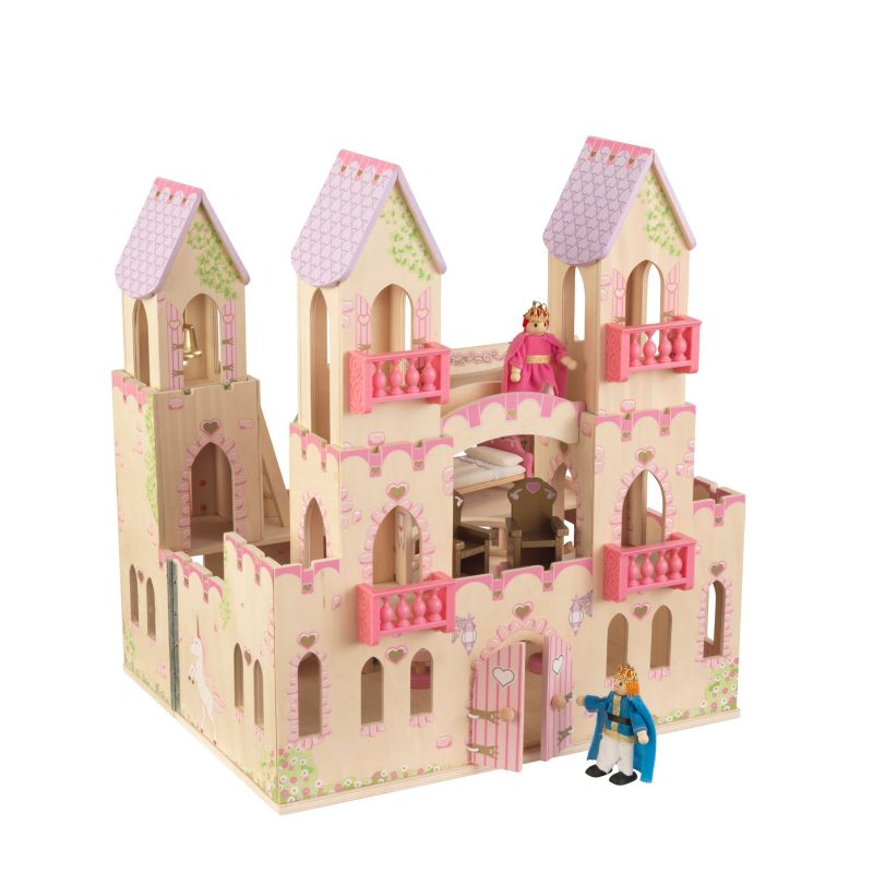 KidKraft Princess Castle Dollhouse Play Set, Pink