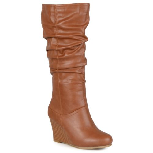 journee collection hana s slouch wedge boots