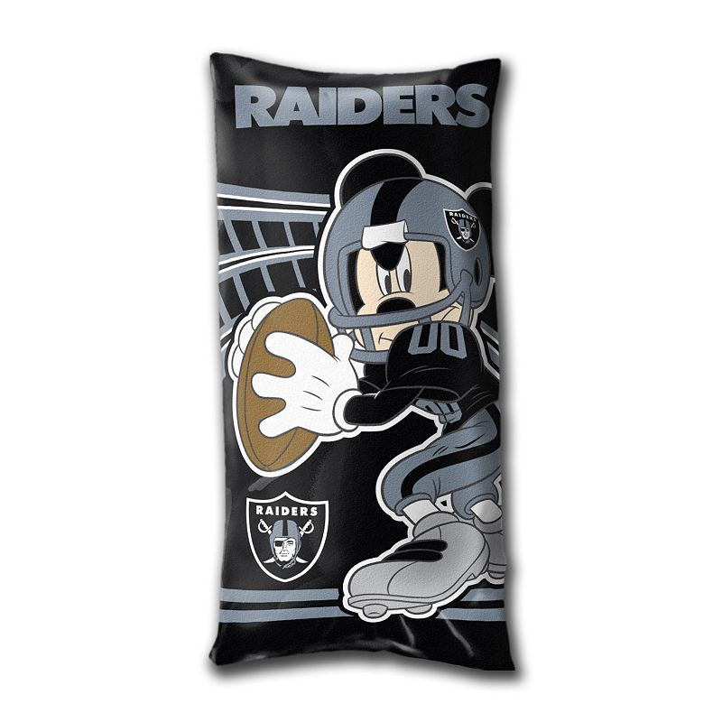 Oakland Raiders Mickey Mouse Body Pillow by Northwest