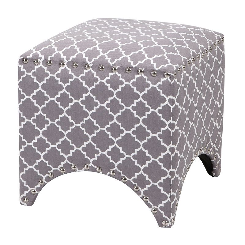 Madison Park Rileigh Trellis Ottoman